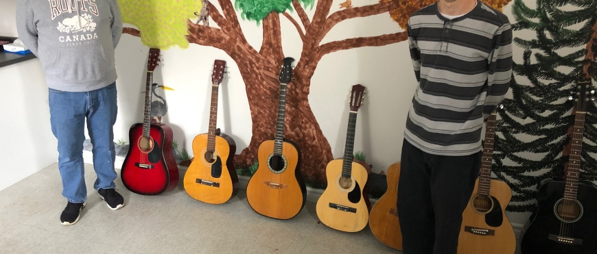Guitar Donation Brightens Seven Lives