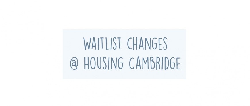Changes to Market Rent Waitlist Policy